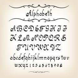 alfabeta semplice da ricamare