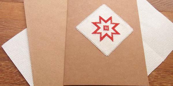 Come Ricamare a Punto Croce una Cartolina di Natale
