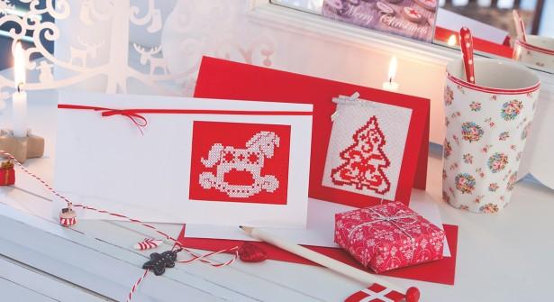 cartoline natalizie a punto croce