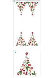 corsia natalizia punto croce