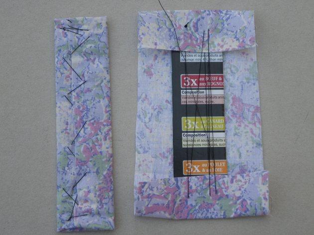 rivestire il segnalibro con tessuto cotone