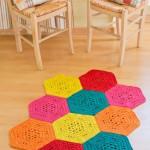 Come realizzare una coperta all uncinetto piastrelle colorate arte del ricamo - Piastrelle esagonali uncinetto ...