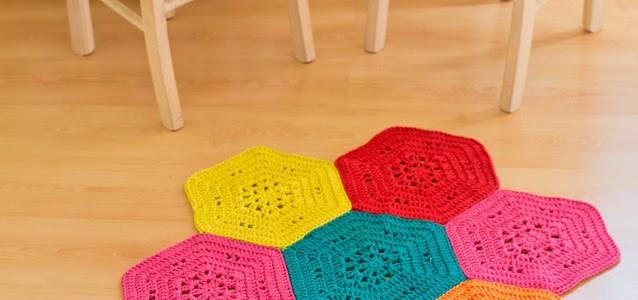 uncinetto piastrelle esagonali realizzare un tappeto all uncinetto ...