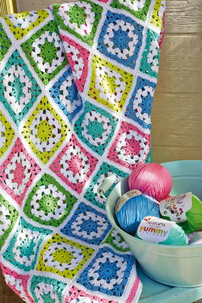 Come realizzare una coperta all uncinetto piastrelle - Schemi per piastrelle all uncinetto ...