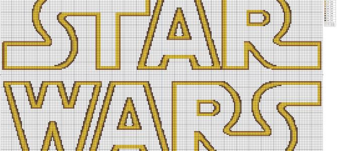 Logo di Stars Wars a Punto Croce
