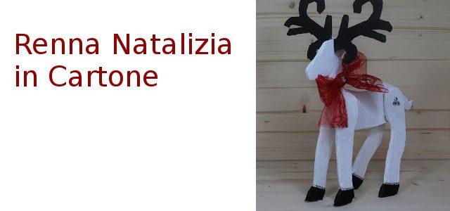 Renna Natalizia in Cartone