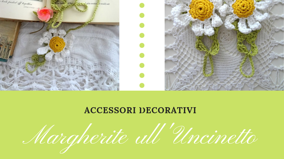 Accessori decorativi margherite all uncinetto arte del for Accessori decorativi