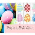 Semplici Uova di Pasqua da Ricamare a Punto Croce