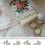 Bordura di Rose da Ricamare a Punto Croce
